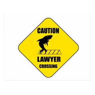 Cartão Postal Cruzamento do advogado com tubarão