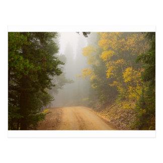 Cartão Postal Cruzamento na névoa do outono