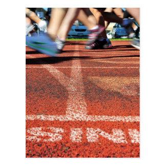 Cartão Postal Cruzando o meta - realização ou Runne