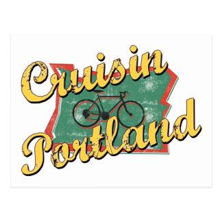 Cartão Postal Cruzeiro Oregon de Portland da bicicleta