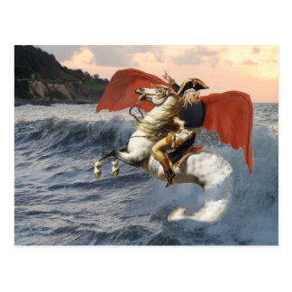 Cartão Postal Cthulhu Bonaparte na praia
