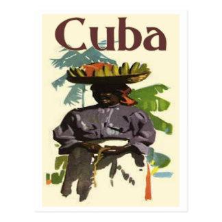 Cartão Postal Cuba e mulher crioula