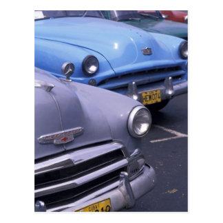 Cartão Postal Cuba, Havana. Automóveis clássicos dos anos 50