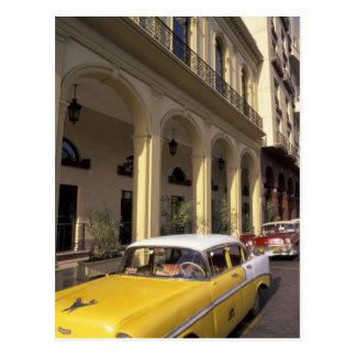 Cartão Postal Cuba, Havana. Chevy colorido dos anos 50