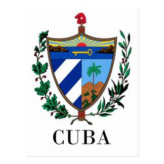 Cartão Postal CUBA - símbolo/brasão/bandeira/cores/emblema