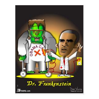 Cartão Postal Cuidado de Frankenstein Obama