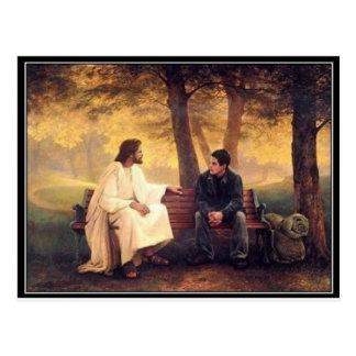 Cartão Postal Cuidados de Jesus para mim