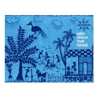 Cartão Postal Cultivo de Warli