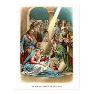 Cartão Postal Culto dos homens sábios