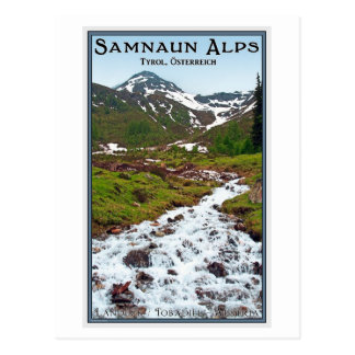 Cartão Postal Cumes de Tobadill - de Samnaun
