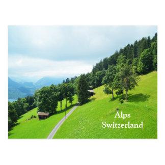 Cartão Postal Cumes suíços no verão