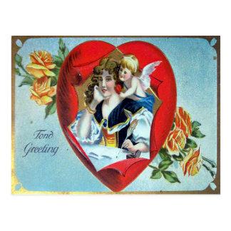 Cartão Postal Cumprimento afeiçoado