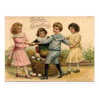 Cartão Postal Cumprimento da páscoa do vintage
