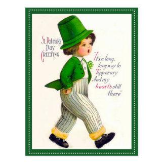 Cartão Postal Cumprimento do dia de St Patrick do vintage
