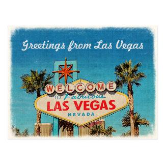 Cartão Postal Cumprimento retro do vintage de Las Vegas fabuloso