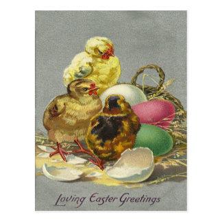 Cartão Postal Cumprimentos 1909 da páscoa do vintage