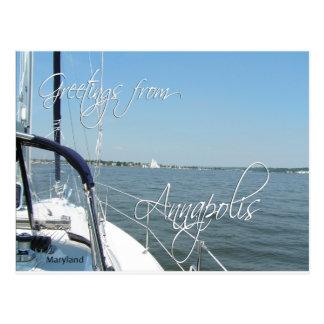 Cartão Postal Cumprimentos da baía de Chesapeake do veleiro de