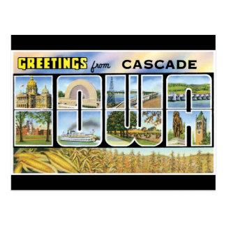 Cartão Postal Cumprimentos da cascata