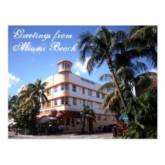 Cartão Postal Cumprimentos da movimentação do oceano em Miami