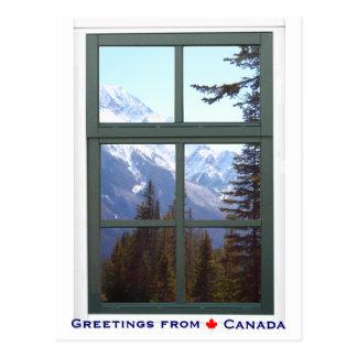 Cartão Postal Cumprimentos da opinião da janela das montanhas