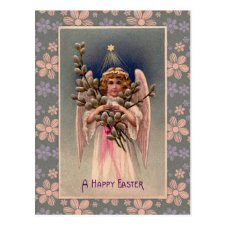 Cartão Postal Cumprimentos da páscoa do anjo do vintage