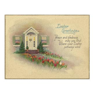 Cartão Postal Cumprimentos da páscoa do vintage