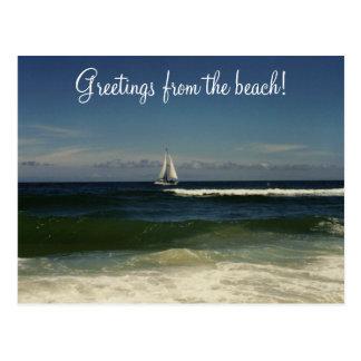 Cartão Postal Cumprimentos da praia!