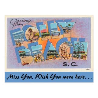 Cartão Postal Cumprimentos da praia do insensatez