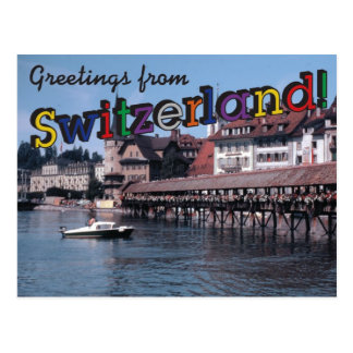 Cartão Postal Cumprimentos da suiça!