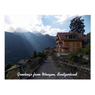 Cartão Postal Cumprimentos da suiça 1 de Wengen