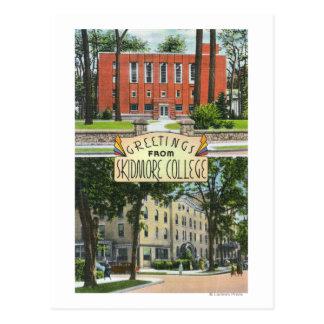 Cartão Postal Cumprimentos das cenas da faculdade de Skidmore