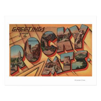 Cartão Postal Cumprimentos das montanhas rochosas