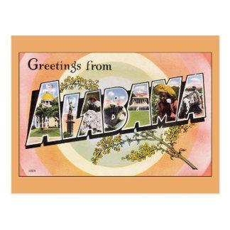 Cartão Postal Cumprimentos de Alabama