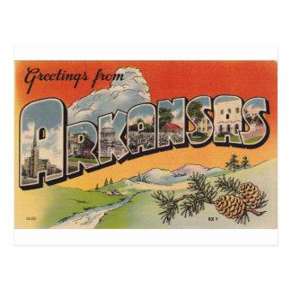 Cartão Postal Cumprimentos de Arkansas