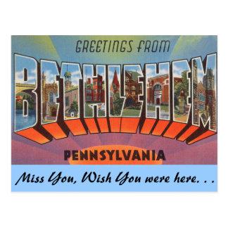 Cartão Postal Cumprimentos de Bethlehem