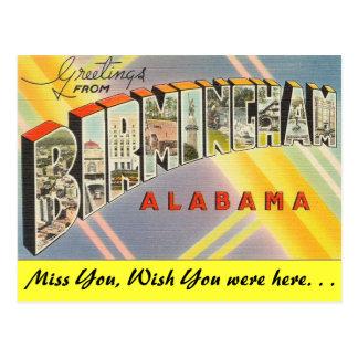 Cartão Postal Cumprimentos de Birmingham