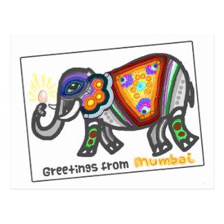 Cartão Postal Cumprimentos de Bombaim