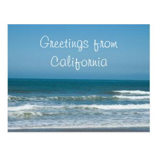 Cartão Postal Cumprimentos de Califórnia