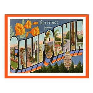 Cartão Postal Cumprimentos de Califórnia dos estados de E.U.