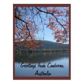 Cartão Postal Cumprimentos de Canberra, Austrália