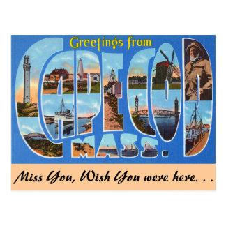 Cartão Postal Cumprimentos de Cape Cod
