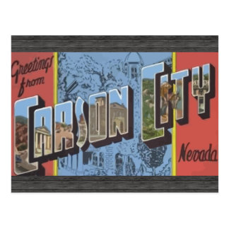 Cartão Postal Cumprimentos de Carson City Nevada, vintage