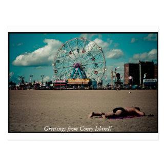 Cartão Postal Cumprimentos de Coney Island!
