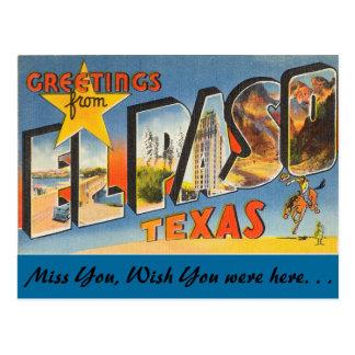 Cartão Postal Cumprimentos de El Paso