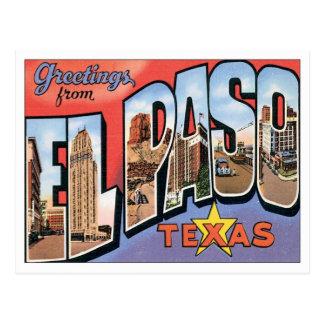 Cartão Postal Cumprimentos de El Paso, Texas