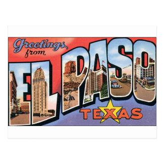 Cartão Postal Cumprimentos de El Paso, Texas!