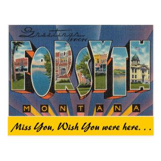 Cartão Postal Cumprimentos de Forsyth