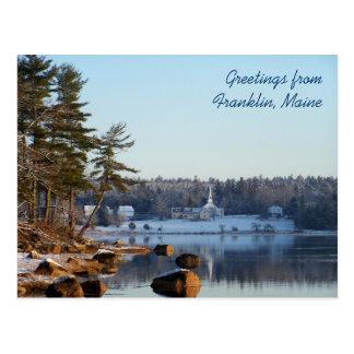 Cartão Postal Cumprimentos de Franklin, Maine