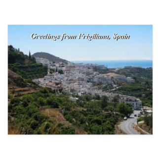 Cartão Postal Cumprimentos de Frigiliana, espanha