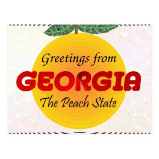Cartão Postal Cumprimentos de Geórgia